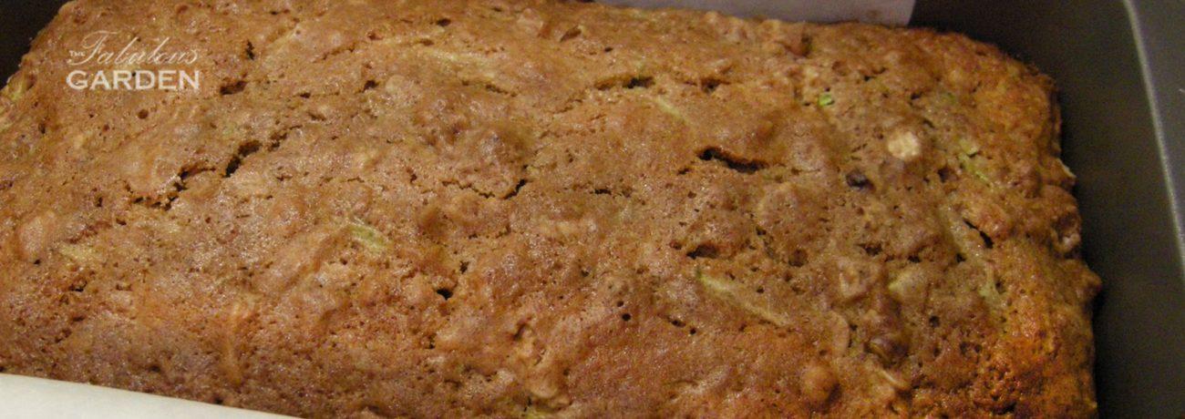 Close up of the best zucchini bread