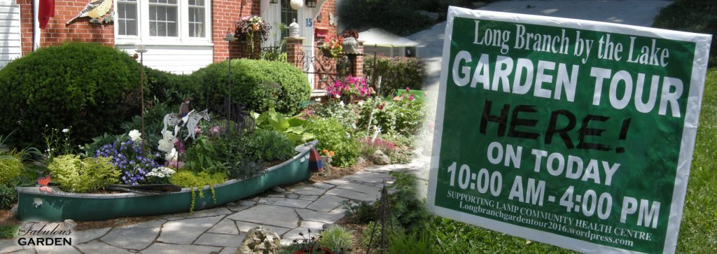 Long Branch By the Lake Garden Tour sign