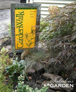 Garden Walk Buffalo garden entrance sign