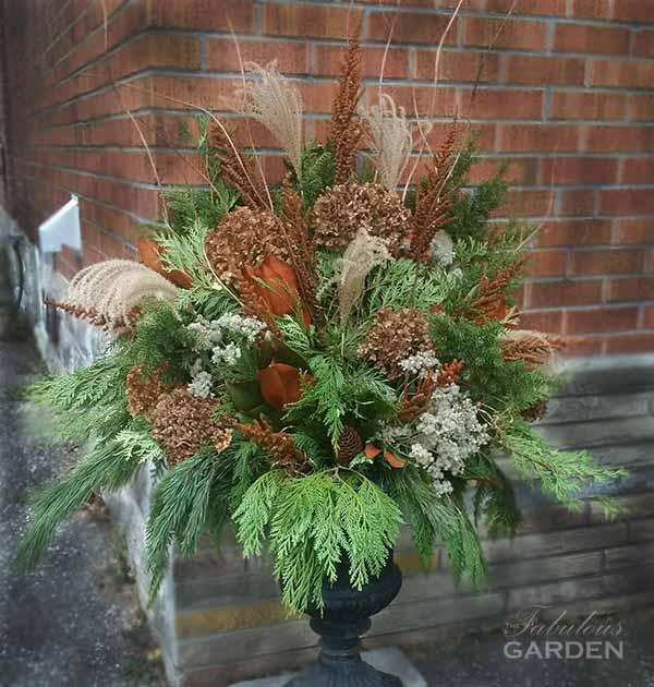 How To Make A Winter Planter Arrangement The Fabulous Garden